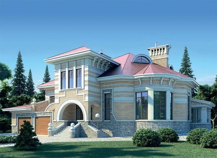Двухскатные крыши дома фото