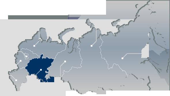 Карта России - Map of Russia.  Mordovia Picture from Space.  Фото Центральной России и Мордовии из космоса.